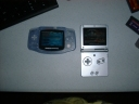Picture of a GBA SP and Afterburner Modified GBA