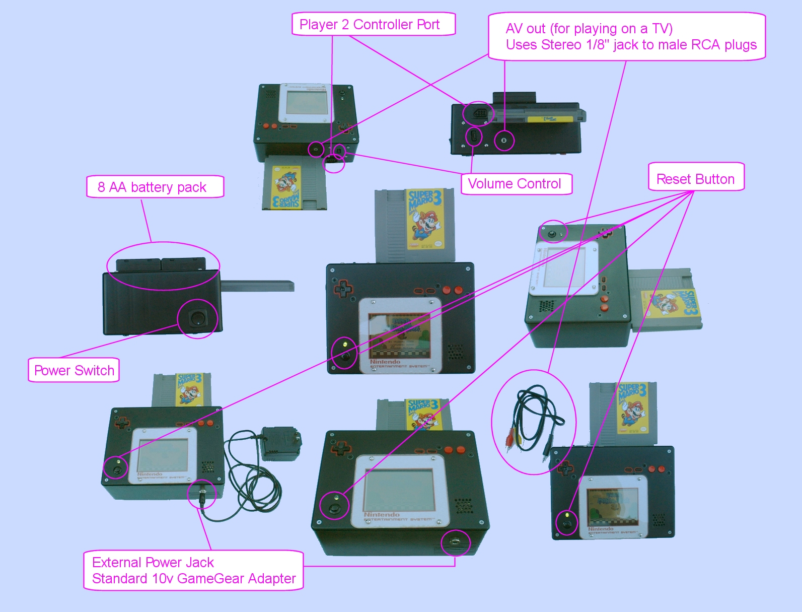 Nintendo Toaster Nintoaster I Need Some Help Page 3 Klov Here Is A Drawing Of The Circuit Used With My Nesp Really Should Finish Version 2 Day Also Portable N64 That Has All Guts Done But Needs Case